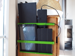 Phone / Tablet holder for shelf