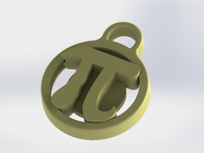 "Pi Day ""Rotating"" Keychain Fob"