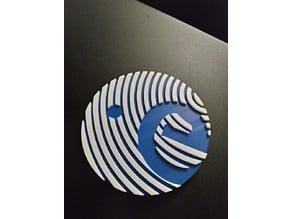 Badge ESA 150x19 mm