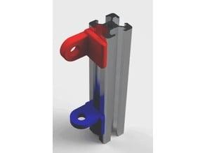 1/4 Turn Filament guide for 20x20 or 40x20 profil (Guide de Filament pour profil 20x20 ou 40x20)