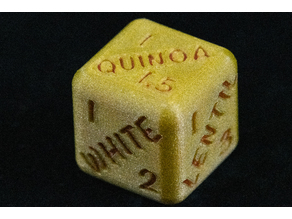 Grain to water ratio companion dice