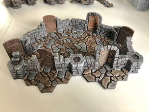 Axolote Hex Dungeon Set - Alternative Doors