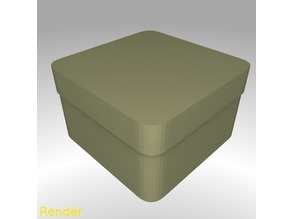 Square Shaped Box Rounded - Small