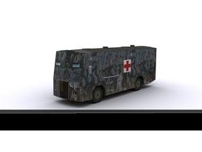 Improvised tank - WAR IN CROATIA - Vukovar medic bus