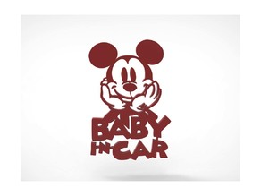 Mickey Baby in Car Decoration
