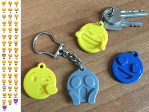 Emoji faces keychain