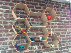 Customizable hexagonal shelves