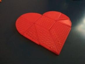 Broken heart tangram