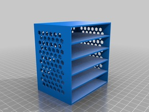 My Customidffdfdzed drawer box with hex pattern sides