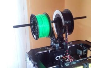 Double-quad spoolholder for CTC/flashforge/replicator WOOD shell models