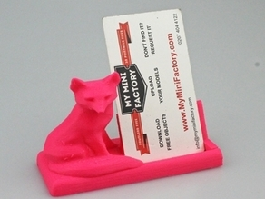 Mr Fox says business card holder