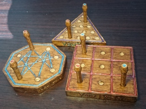 Classic Wood Peg Games | Tic Tac Toe | Galaxy | Intelligence Test | Old Fashioned Tabletop Games