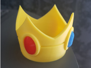 Princess Peach crown with gems