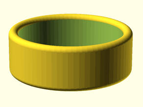 Customizable Ring with ROUND EDGE