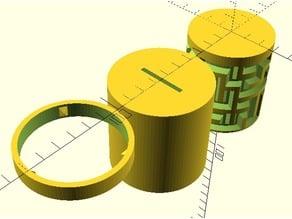 Cylinder Maze Visible and Hidden (Optional Bank) STLs