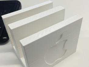 Apple vertical laptop holder