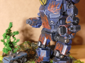 Mechwarrioir MWO Hunchback HBK 4SP outfitted with 5x ML (no RH missile pod)
