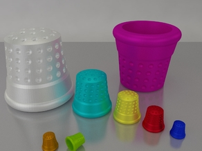 Thimble Customizable - OpenScad