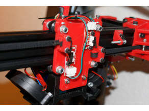X-carriage base back with MAX endstop and standard D-BOT fan mount