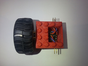 Pololu motor LEGO housing compatible with 3D printing