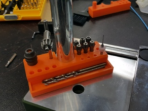 Bits holder for Proxxon TBM Drill or others with 20mm pole