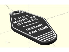 They Might Be Giants Motel Keyring
