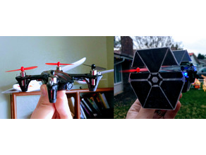 Hubsan x4 H107C Tie Fighter Conversion