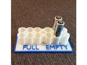 Battery Holder FULL/EMPTY