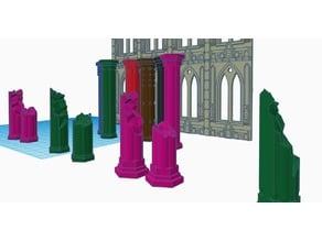 broken gothic pillars