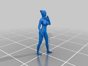 Nude model standing #1