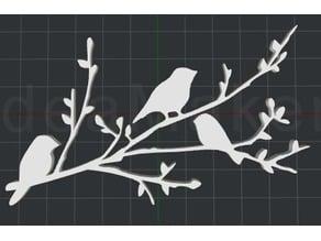 Birds on a Branch 2D Wall Art