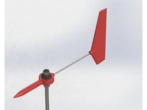 Wind vane (on M8 threaded rod)