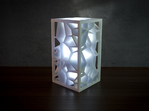 Generative design. Voronoi lamp (LQ-version) (redesign)