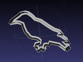 Raven Cookie Cutter