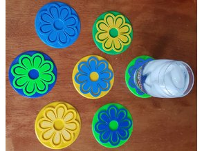 Flower Coasters for Mother's Day
