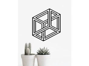 Paradox Box|| 3D Geometric Wall Art