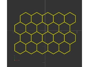 OpenSCAD 2D honeycomb shape module