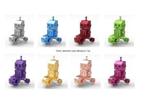Three-wheeled robot miniature toy
