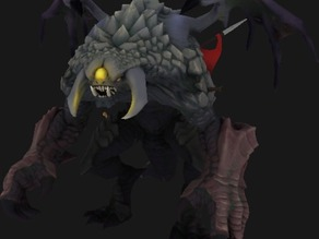 Roshan Dota 2 Low and High Poly