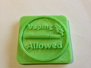 Vaping Allowed Badge