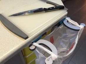Countertop Collapsible Trash Bag Holder