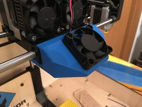 Dual fan cooling duct V5 for Flashforge Creator/Replicator dual