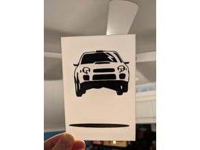 Multicolor Subaru WRX print for single extruder printers