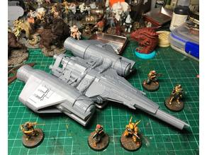 Destiny Arcadia Class Jumpship cut for FDM