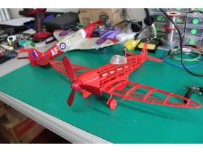 Spitfire model plane for laser cutting or 3D printing