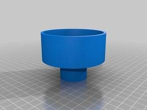 Tea Light to 3/8th inch dowel rod adapter ver3