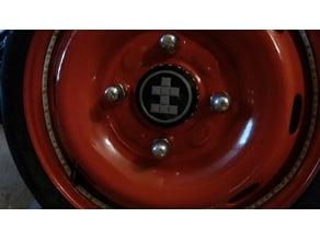 Fake wheel hub for LED strip 4x100