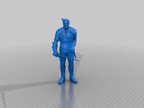 Geralt of Rivia / Witcher 3 / 3d stl model (h210mm)