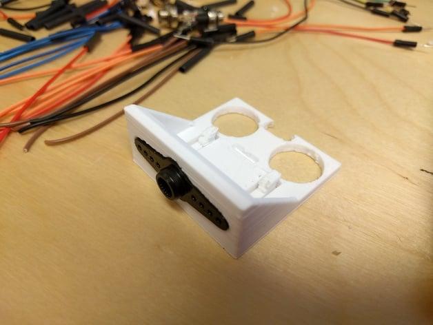 Ultrasonic Sensor Hc Sr04 Bracket Servo Mounted By