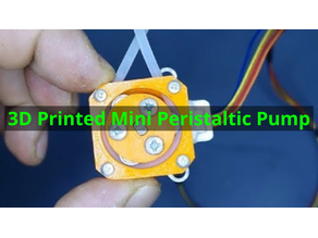 3D Printed Mini Peristaltic Pump